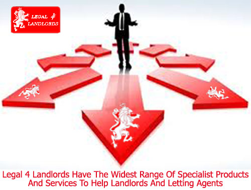 Legal 4 Landlords offer a wide range of specialist products and services to landlords and the lettings industry